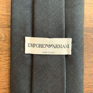 Emporio Armani Classic Gray Silk Tie